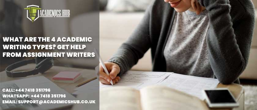 Academics Hub: What Are The 4 Academic Writing Types? Get Help from Assignment Writers