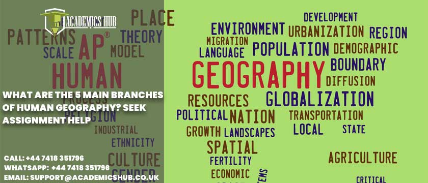 Academics Hub: What Are The 5 Main Branches of Human Geography? Seek Assignment Help